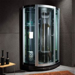 Grande cabine de douche hammam design D-Riviera noire