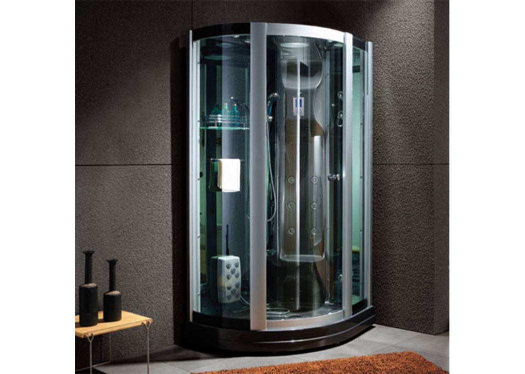 cabine de douche integrale noire d riviera black. Black Bedroom Furniture Sets. Home Design Ideas