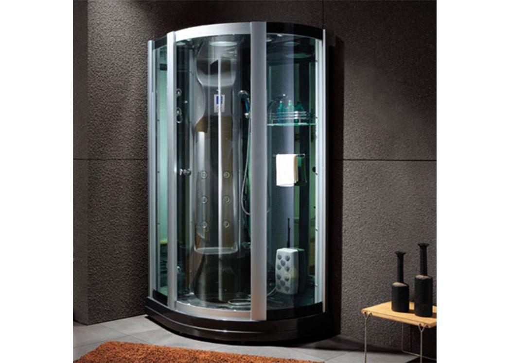 cabine de douche integrale noire g riviera black. Black Bedroom Furniture Sets. Home Design Ideas