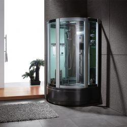 Cabine de douche G-VENUS BLACK hammam avec panneau de commandes