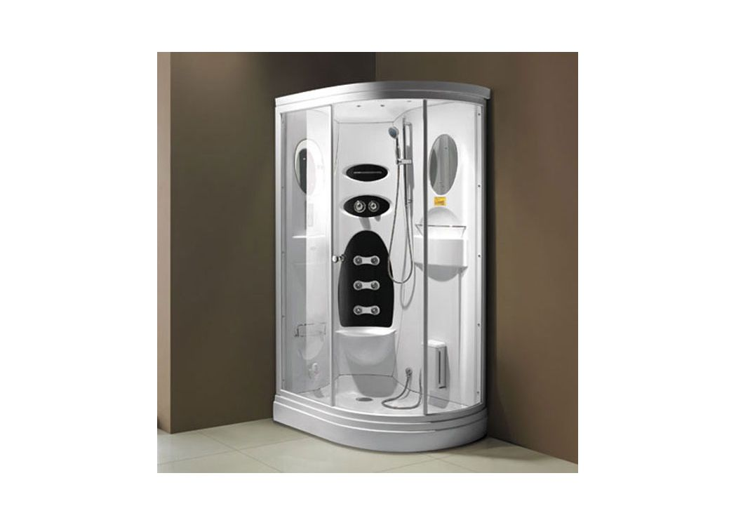 cabine de douche angle avec hammam g niagara l522. Black Bedroom Furniture Sets. Home Design Ideas
