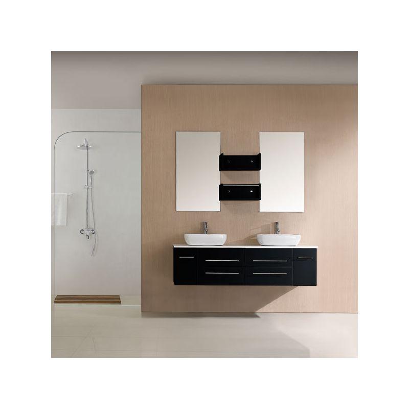 meuble salle de bain noir sd619mn. Black Bedroom Furniture Sets. Home Design Ideas