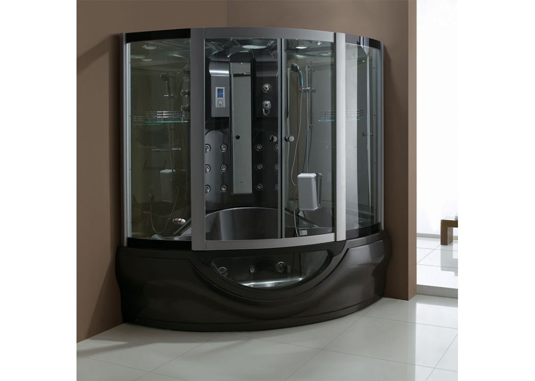 combi douche baignoire hammam black tahiti cabine baignoire hammam noire. Black Bedroom Furniture Sets. Home Design Ideas