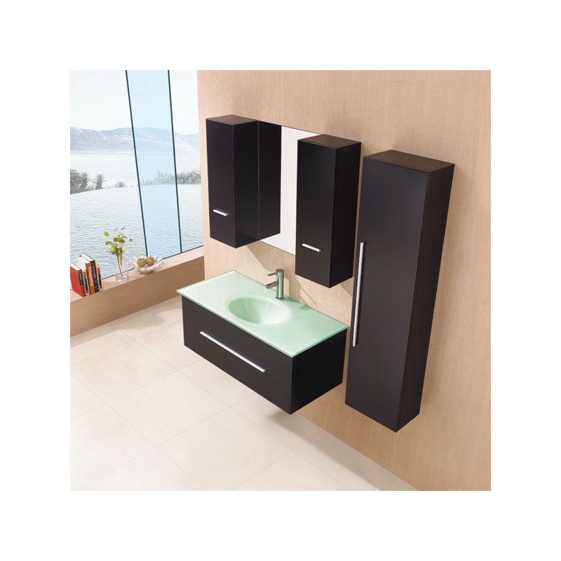 meuble salle de bain de luxe en bois massif ref sd949w coloris weng. Black Bedroom Furniture Sets. Home Design Ideas
