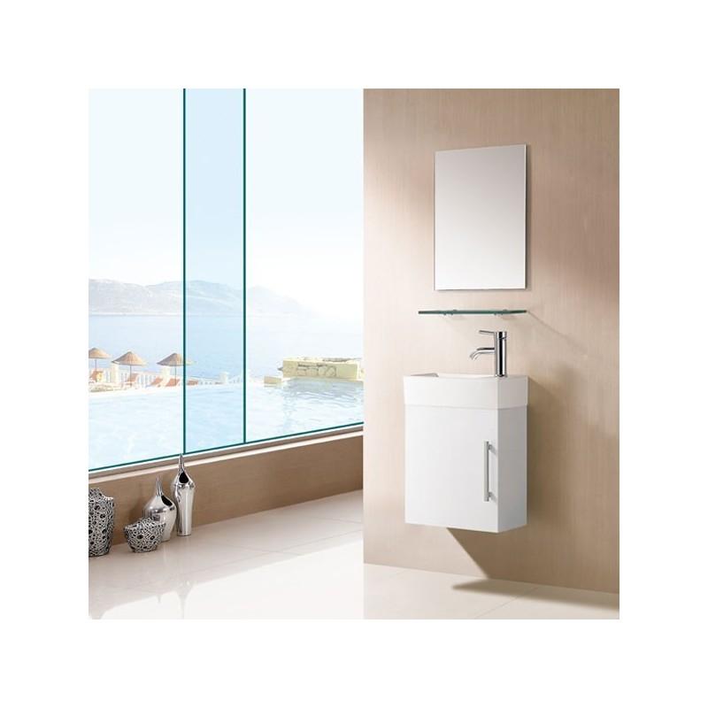 Meuble salle de bain sd960b blanc salledebain online - Meuble salle de bain blanc ...