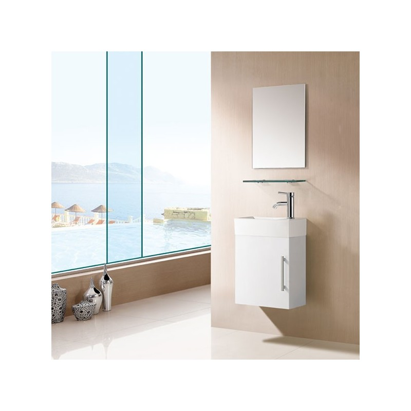 Sd960b meuble salle de bain blanc salledebain online for Meuble salle de bain online