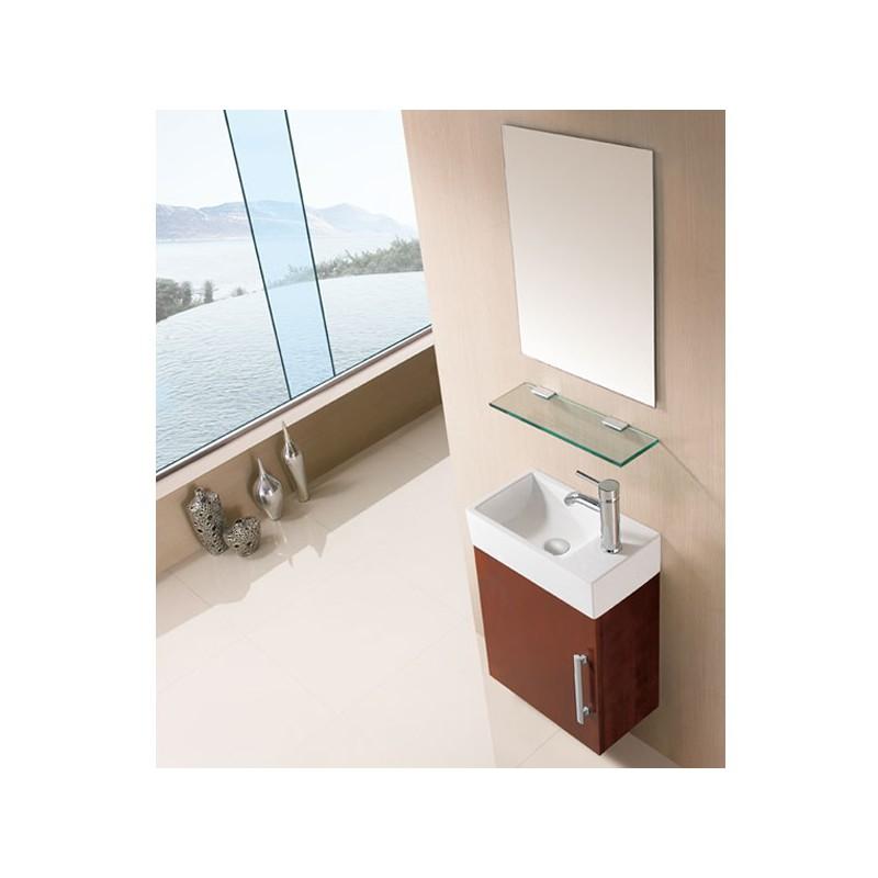 ensemble de salle de bain compact couleur ch ne clair sd960cc. Black Bedroom Furniture Sets. Home Design Ideas