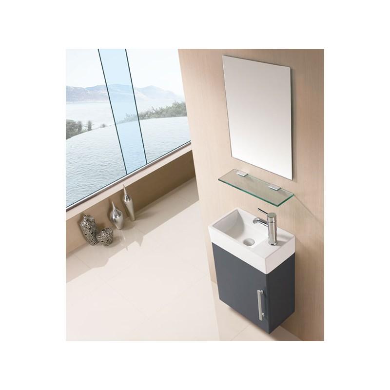 Meuble salle de bain sd960gt gris taupe salledebain online for Meuble salle de bain taupe