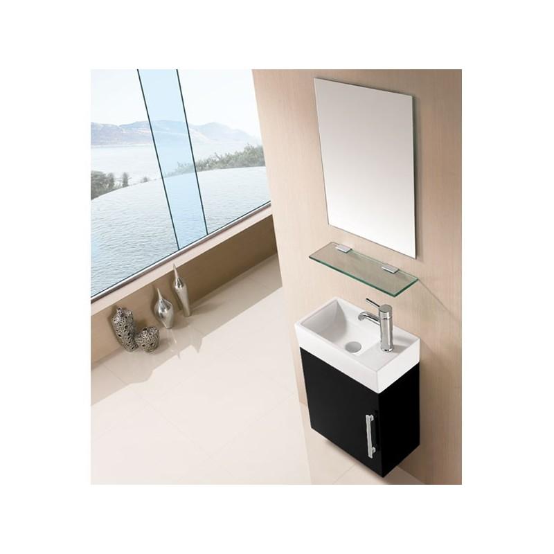 Petit ensemble de salle de bain noir sd960n - Prix meuble salle de bain ...
