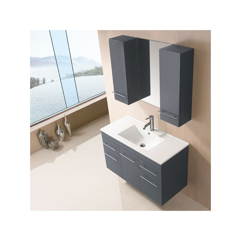 sd961gt meuble salle de bain gris taupe salledebain online. Black Bedroom Furniture Sets. Home Design Ideas