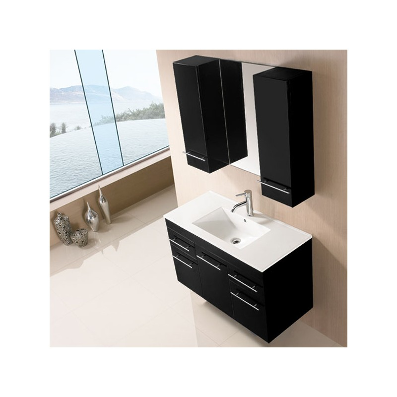 sd961n meuble salle de bain noir salledebain online. Black Bedroom Furniture Sets. Home Design Ideas