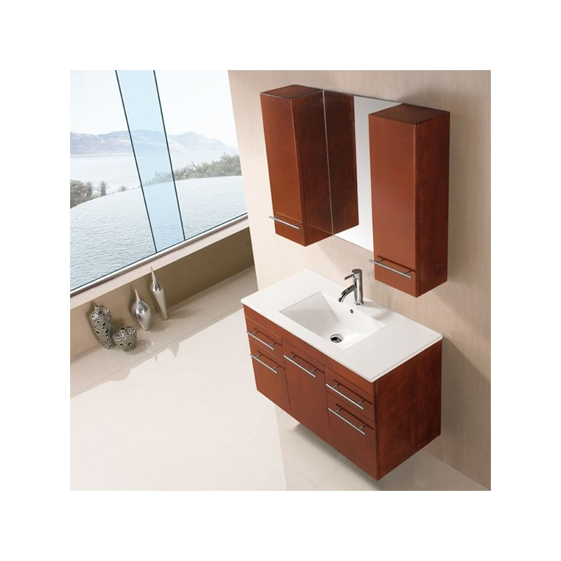 sd961cc meuble salle de bain coloris ch ne clair salledebain online. Black Bedroom Furniture Sets. Home Design Ideas