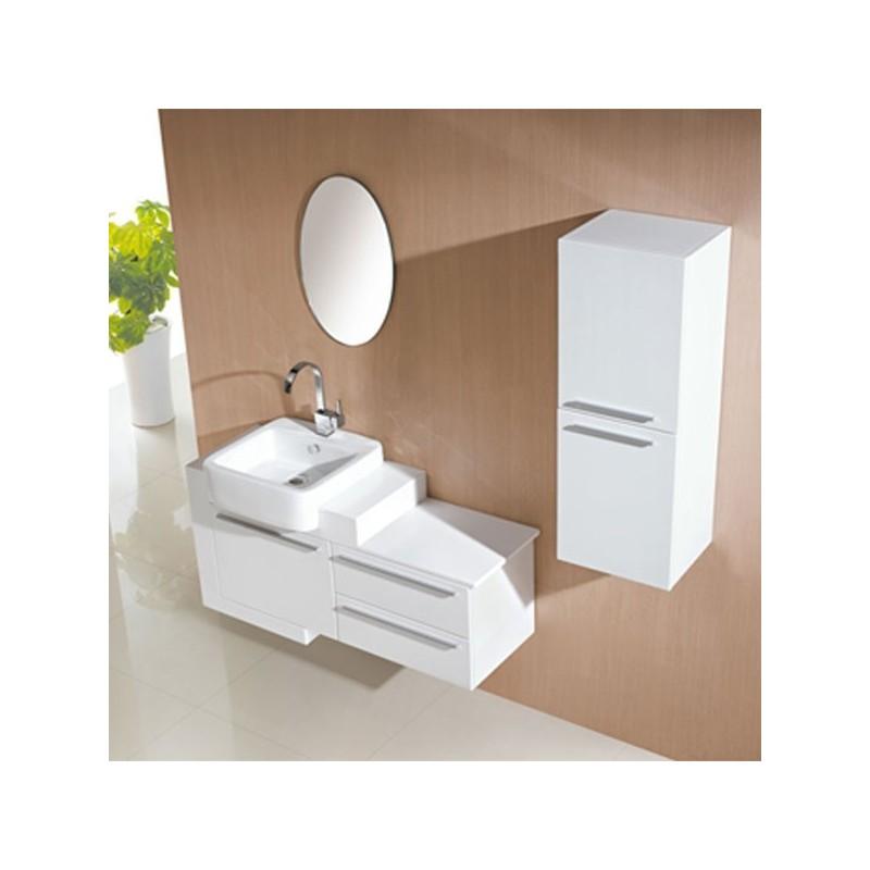 Meuble salle de bain de luxe en bois massif ref sd974b for Meuble salle de bain bois massif blanc