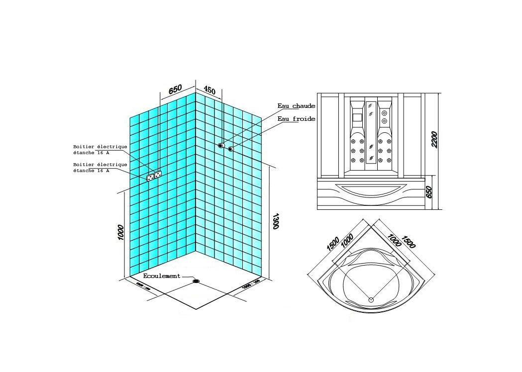 combi douche baignoire hammam capri. Black Bedroom Furniture Sets. Home Design Ideas