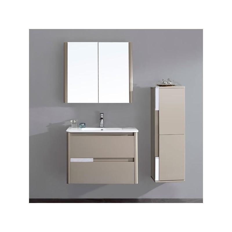 meuble salle de bain en mdf pr mont r f sd035 800mg coloris marron glac. Black Bedroom Furniture Sets. Home Design Ideas