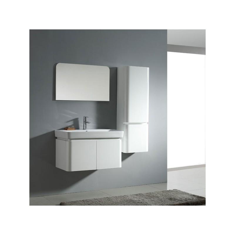 Meuble salle de bain sd023 800 coloris blanc salledebain for Meuble de salle de bain online