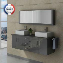 Meuble salle de bain DIS991GT gris taupe