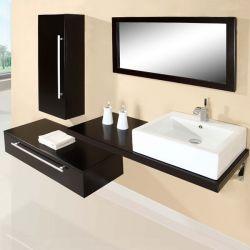 SD701HW Meuble salle de bain coloris wengé