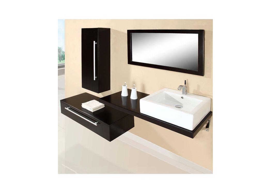 Sd701hw meuble salle de bain coloris weng salledebain online - Salle de bain online ...