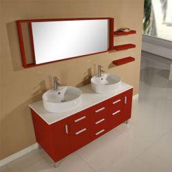 Meuble salle de bain SD919RC rouge cerise