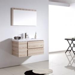 Sd070 900 meuble salle de bain coloris beige ros - Salle de bain couleur lin ...