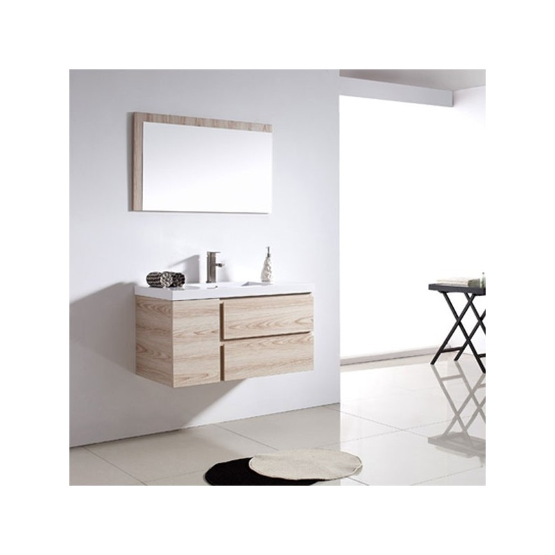 sd070 900 meuble salle de bain coloris beige ros. Black Bedroom Furniture Sets. Home Design Ideas