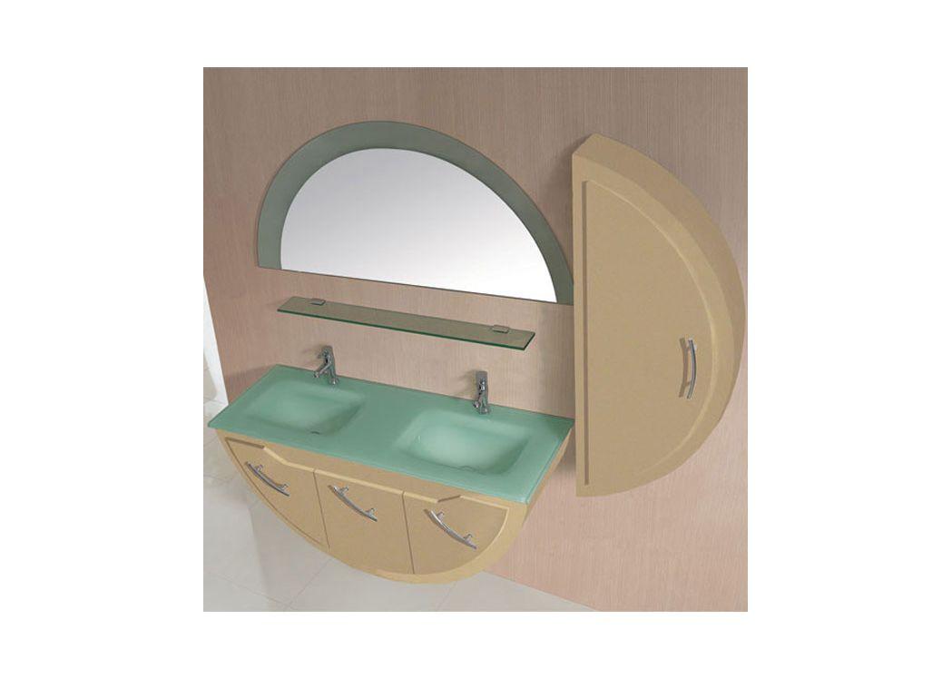 Meuble salle de bain sd947cap coloris cappuccino for Baignoire demi lune
