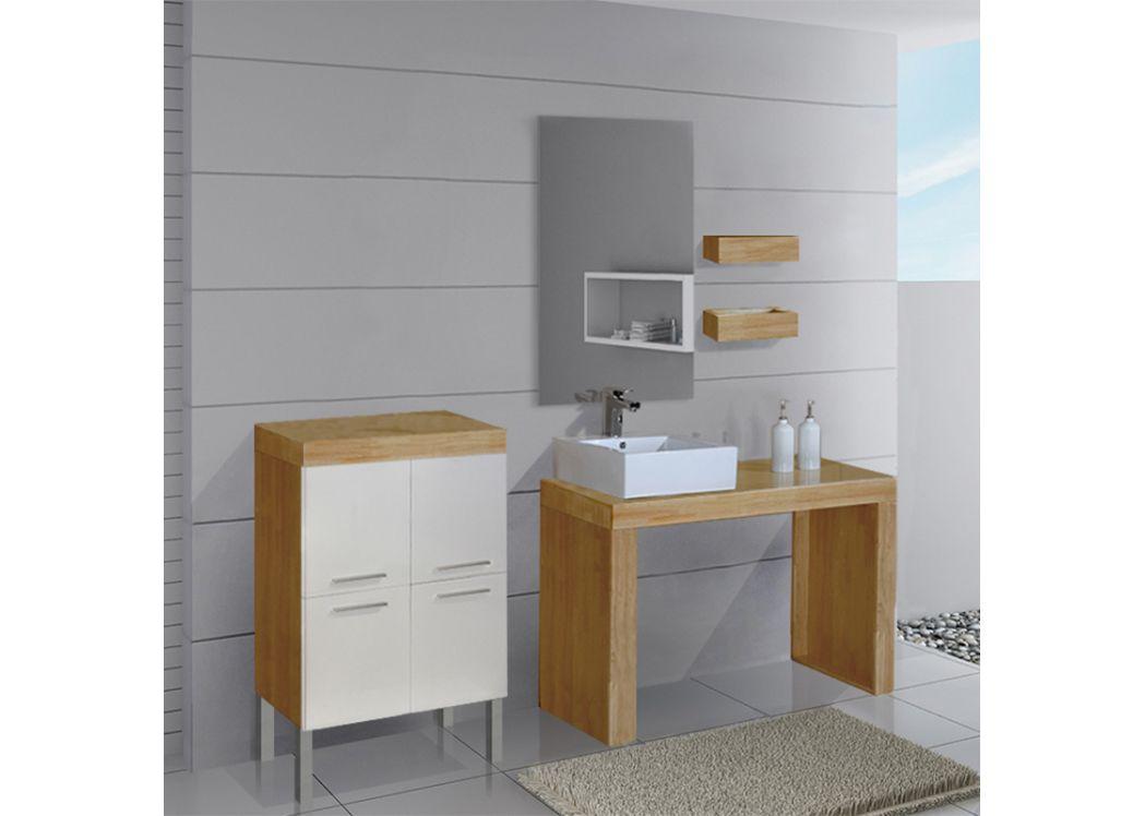 Salle de bain beige et bois maison design Meuble salle de bain beige