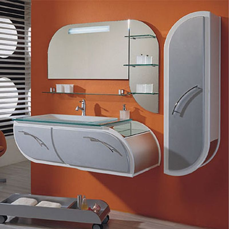 meuble salle de bain bois massif couleur blanc et gris sd8820bg. Black Bedroom Furniture Sets. Home Design Ideas