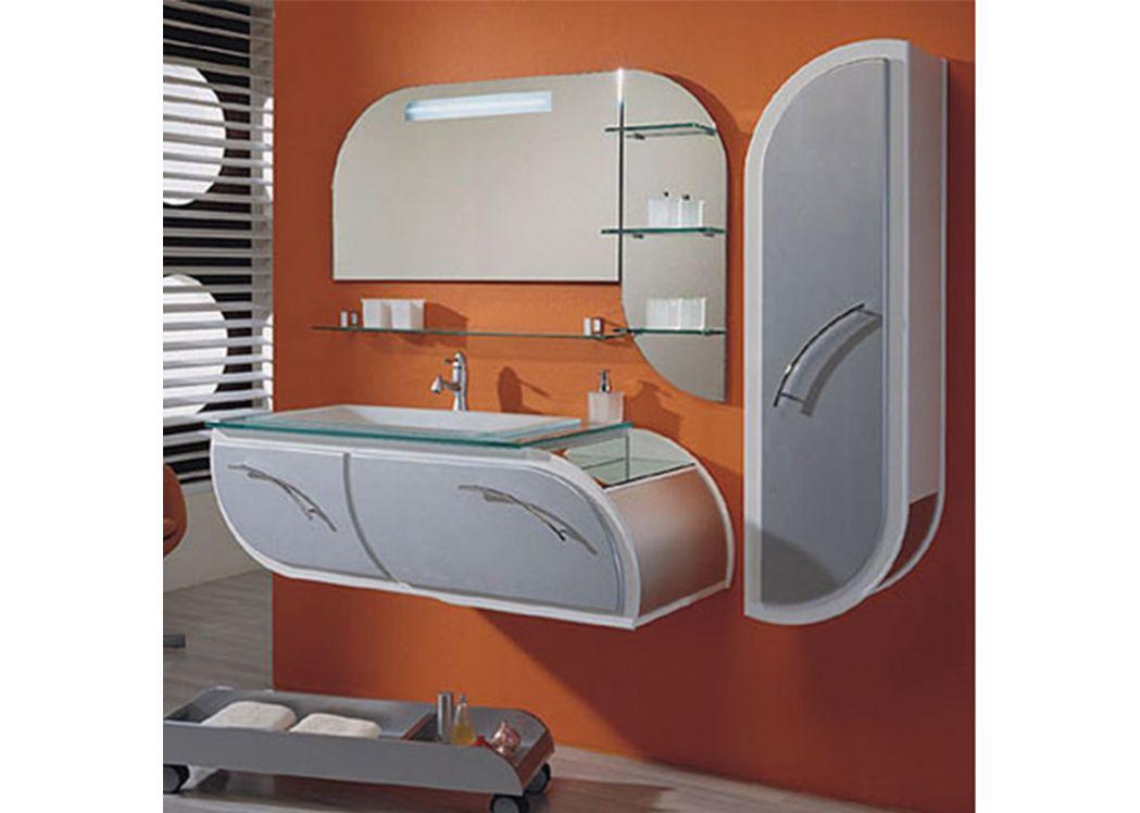 Meuble salle de bain blanc et gris for Meuble salle de bain bois gris