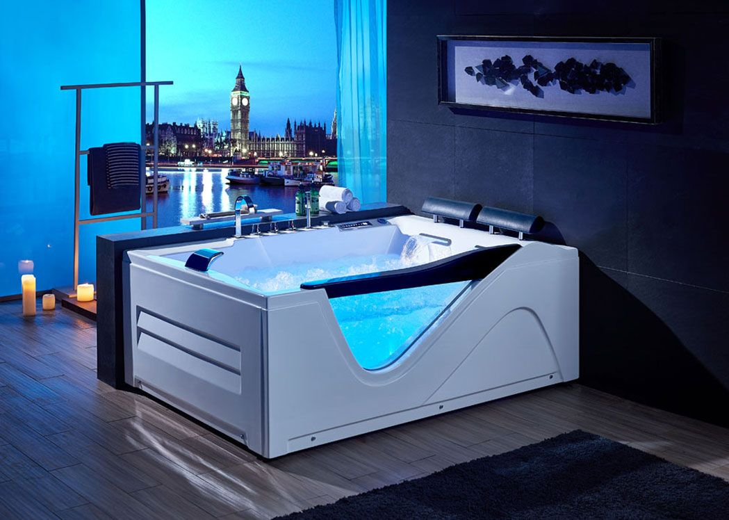 grande baignoire rectangulaire avec hublot g cayenne. Black Bedroom Furniture Sets. Home Design Ideas