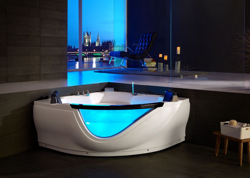 baignoire d 39 angle baln o jacuzzi baignoire spa jacuzzi d 39 angle 2 places salledebain online. Black Bedroom Furniture Sets. Home Design Ideas