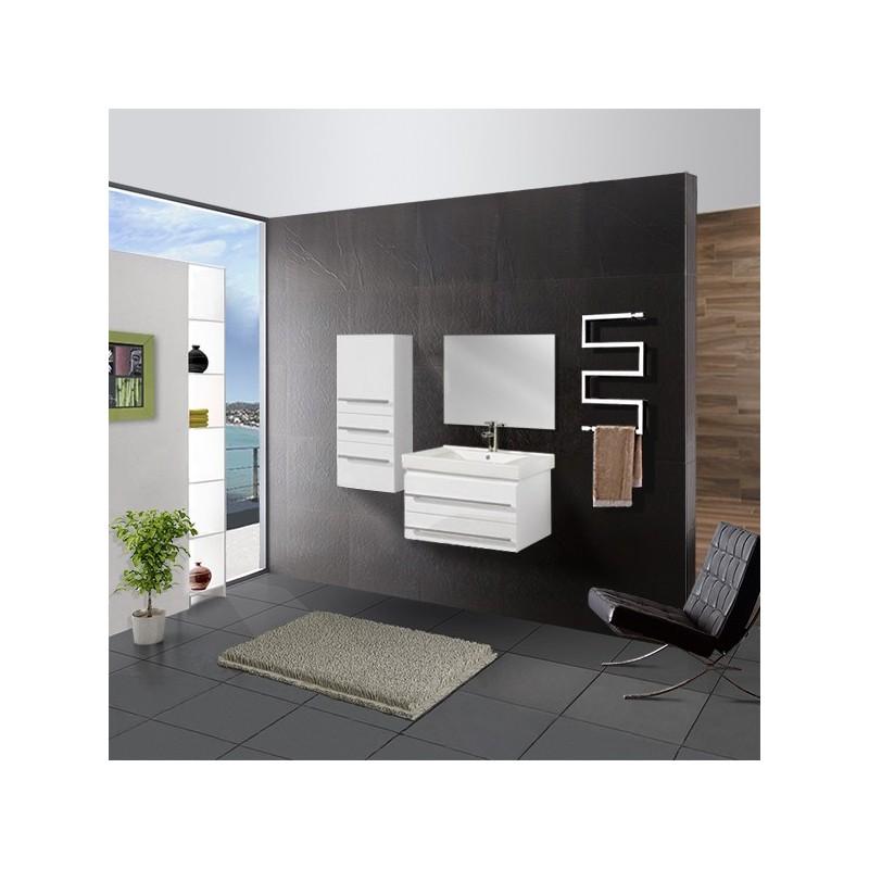 Meuble salle de bain ref dis684b - Petit meuble salle de bain blanc ...