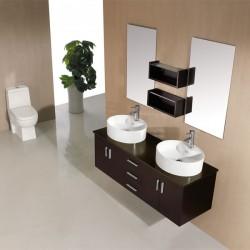 SD622W Meuble salle de bain coloris wengé
