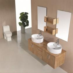 SD622BN Meuble salle de bain coloris bois naturel