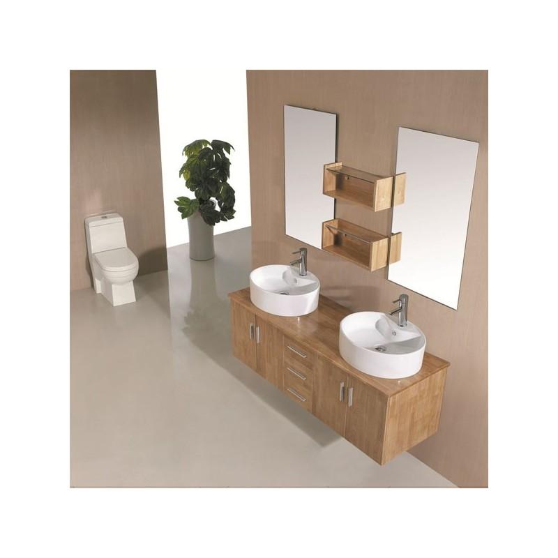 Sd622bn meuble salle de bain coloris bois naturel salledebain online - Salle de bain online ...