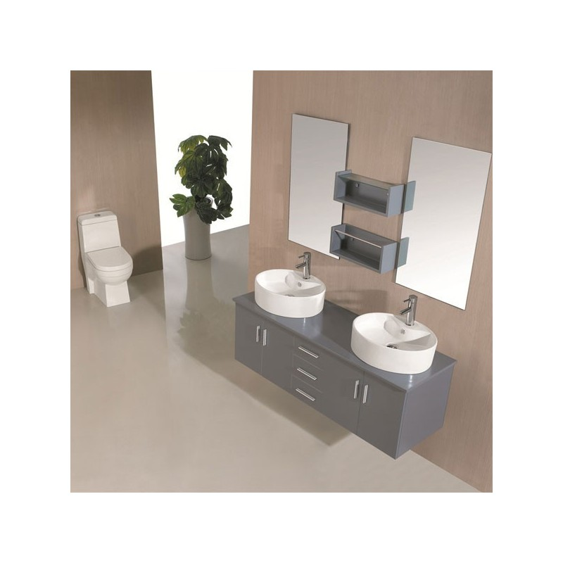 sd622gt meuble salle de bain gris taupe salledebain online. Black Bedroom Furniture Sets. Home Design Ideas
