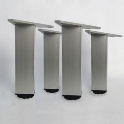 Ensemble de 4 pieds carrés pour meubles en 150 mm