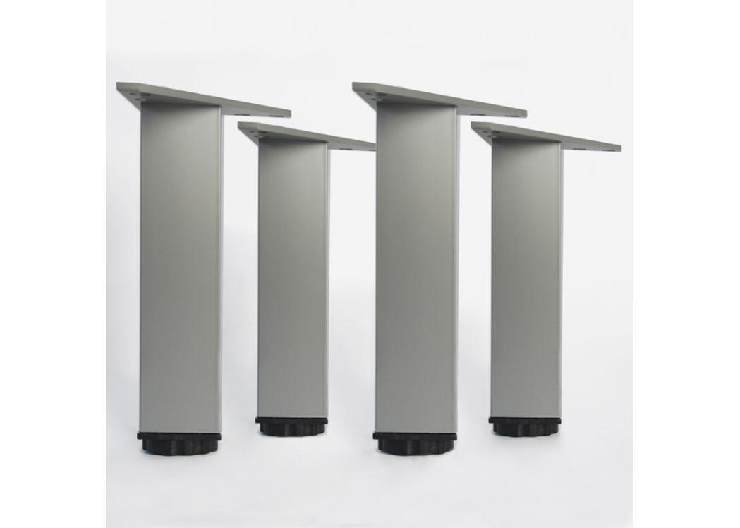 Lot de 4 pieds pour meubles en aluminium en 180 mm pieds for Pied pour meuble salle de bain