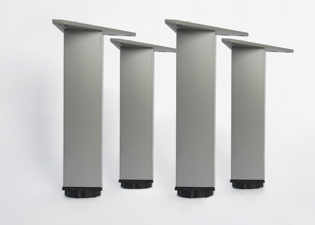 lot de 4 pieds pour meubles en aluminium en 180 mm pieds pour meuble de salle de bain. Black Bedroom Furniture Sets. Home Design Ideas