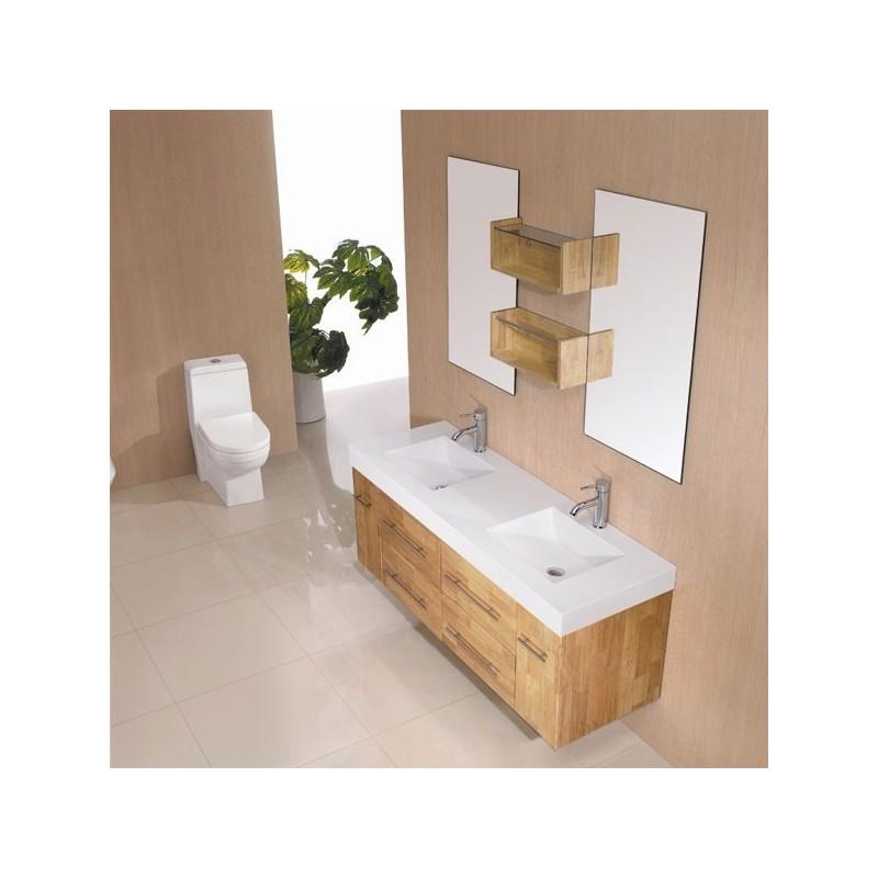Meuble salle de bain ancien en bois for Meuble salle de bain online