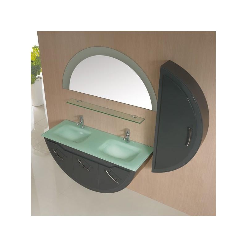 Meuble salle de bain de luxe en bois massif ref sdg947gt for Meuble salle de bain taupe