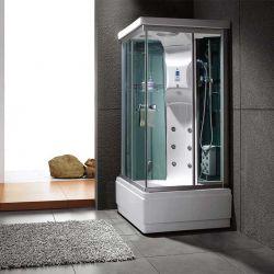 Cabine de douche carrée receveur profond Waikini