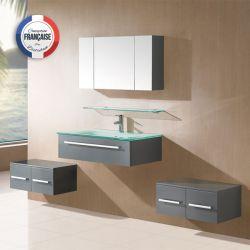 Meuble salle de bain SD944GT coloris gris taupe
