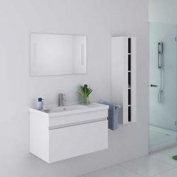 Meuble salle de bain DIS800AB blanc