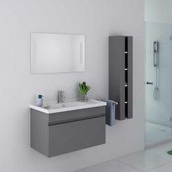 Beau meuble de salle de bain simple vasque gris DIS800AGT
