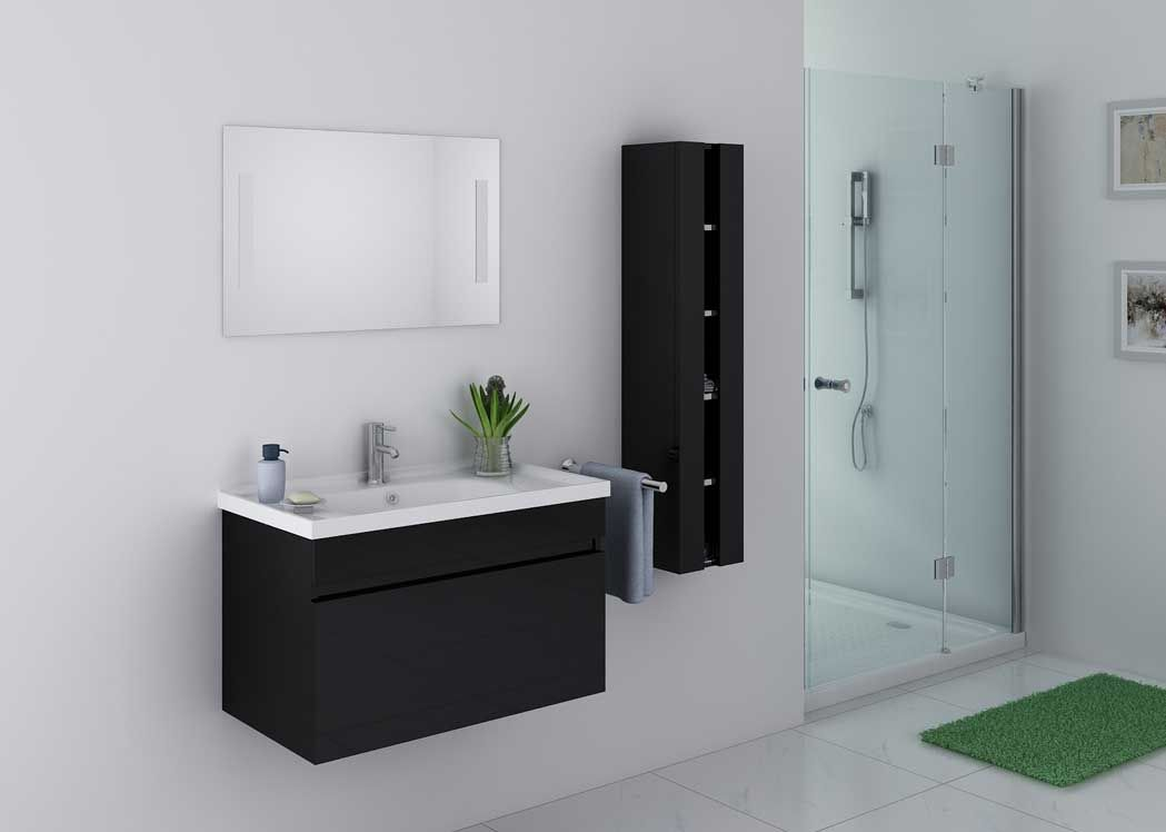 meuble original salle de bain collection dlight meuble sous lavabo avec lavabo poser faade et. Black Bedroom Furniture Sets. Home Design Ideas
