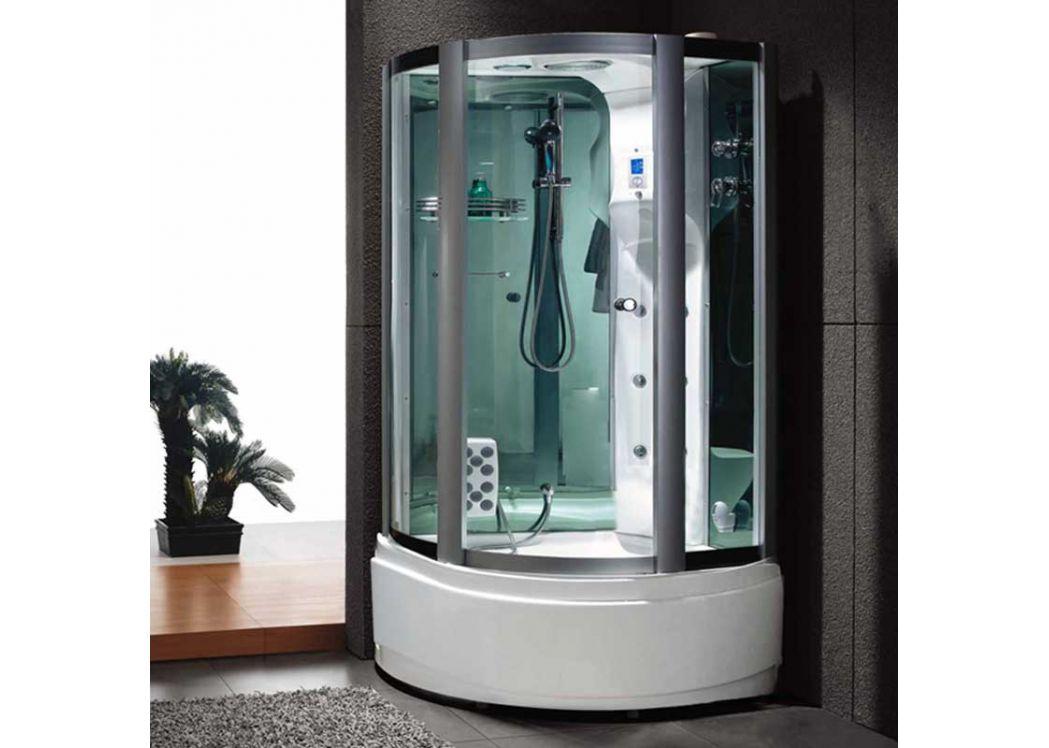 Cabine douche d 39 angle avec hammam d venus gu687 for Salle de bain hammam