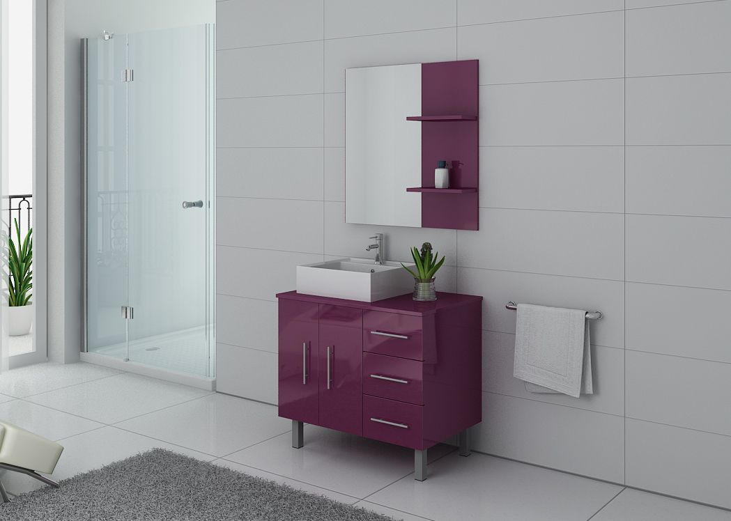 meuble 1 vasque aubergine meuble de salle de bain couleur aubergine ref florence au. Black Bedroom Furniture Sets. Home Design Ideas