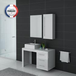 Meubles salle de bain simple vasque VERONE B blanc